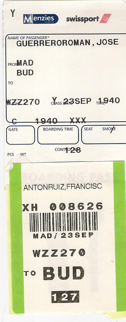 Javier Antón Ruiz - Tarjeta de embarque