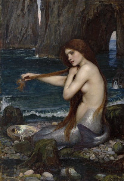 Waterhouse, John William - A mermaid (1900) (Royal Academy of Arts)